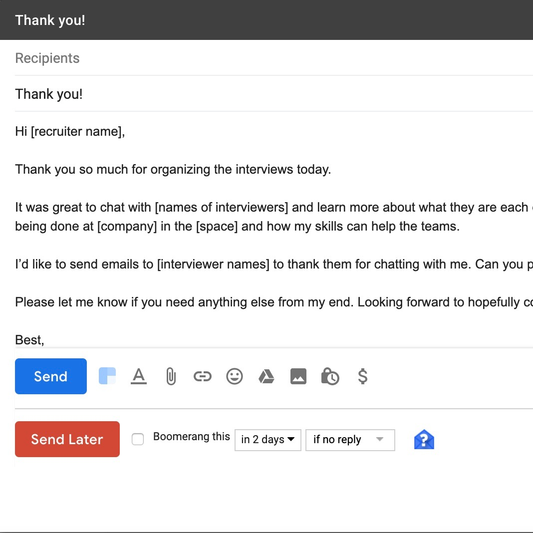 How to write a good follow up email after the interview with ...