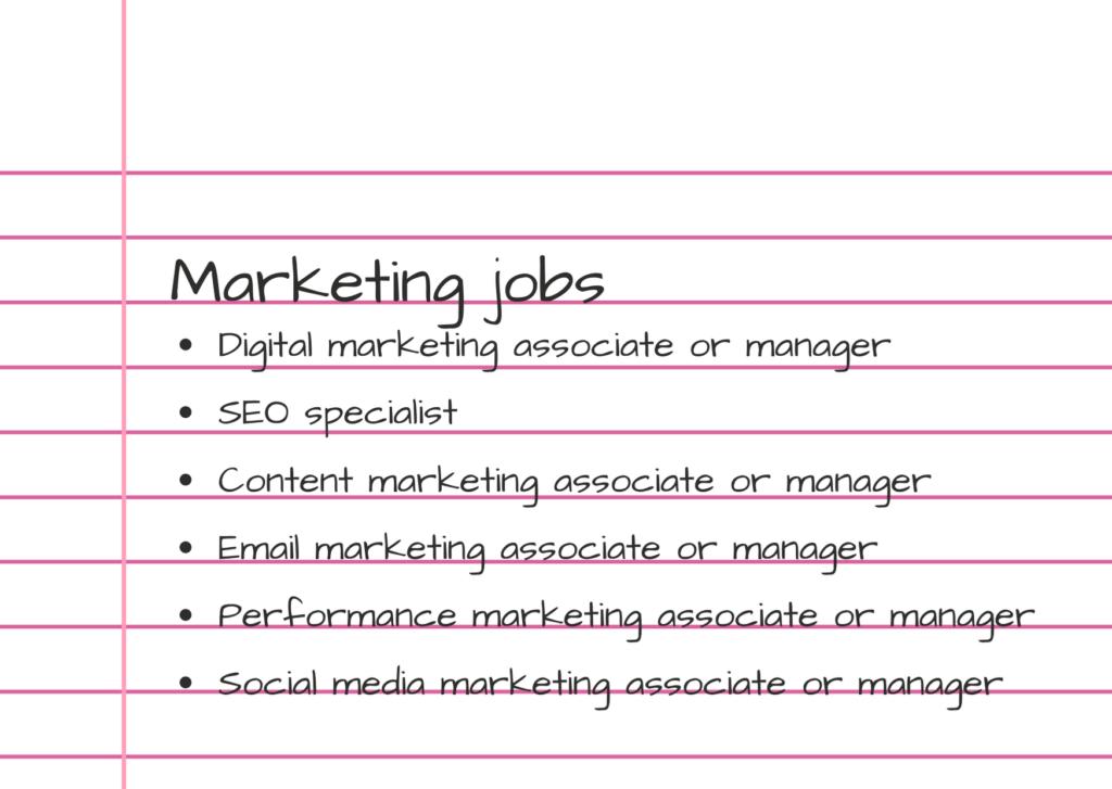 Photo of jobs for marketing majors