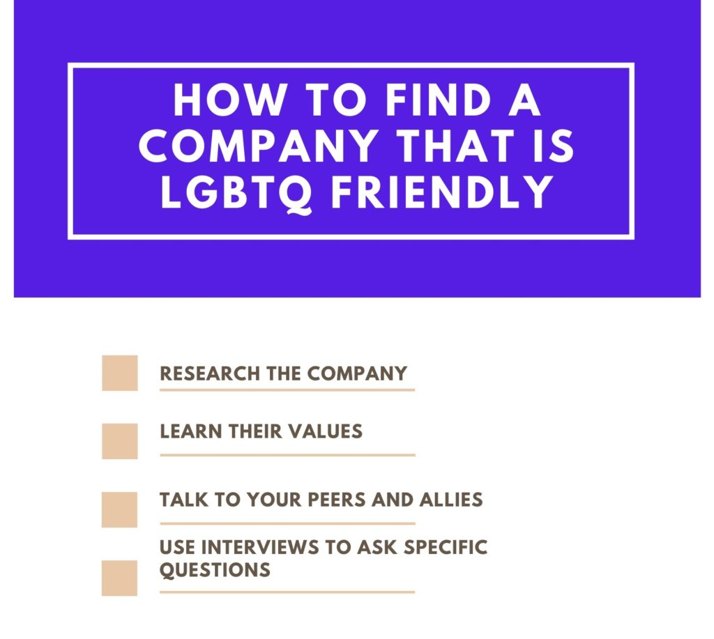 Photo of how to find a company that is LGBTQ friendly