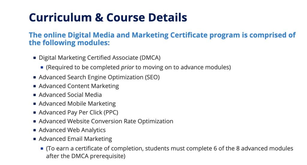 Photo of Duke's Digital Media & Marketing Certificate
