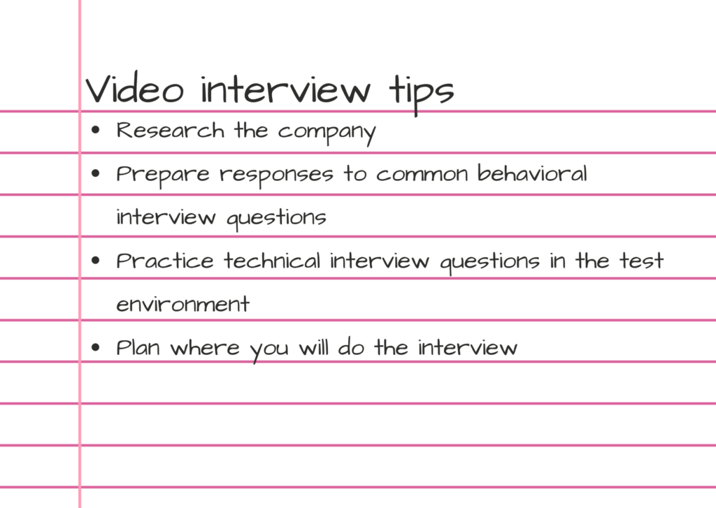 Photo of video interview tips