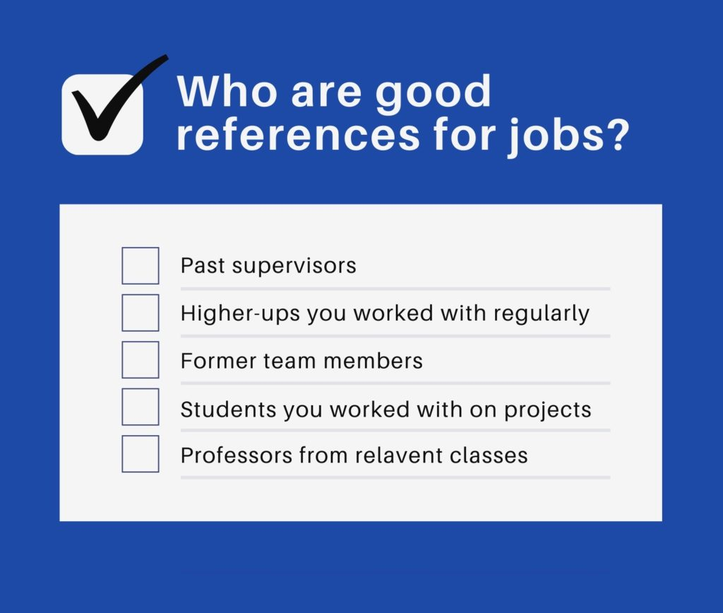 Photo of who are good references for a job application