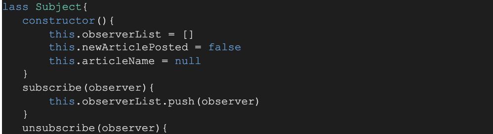 Photo of JavaScript design patterns - observer