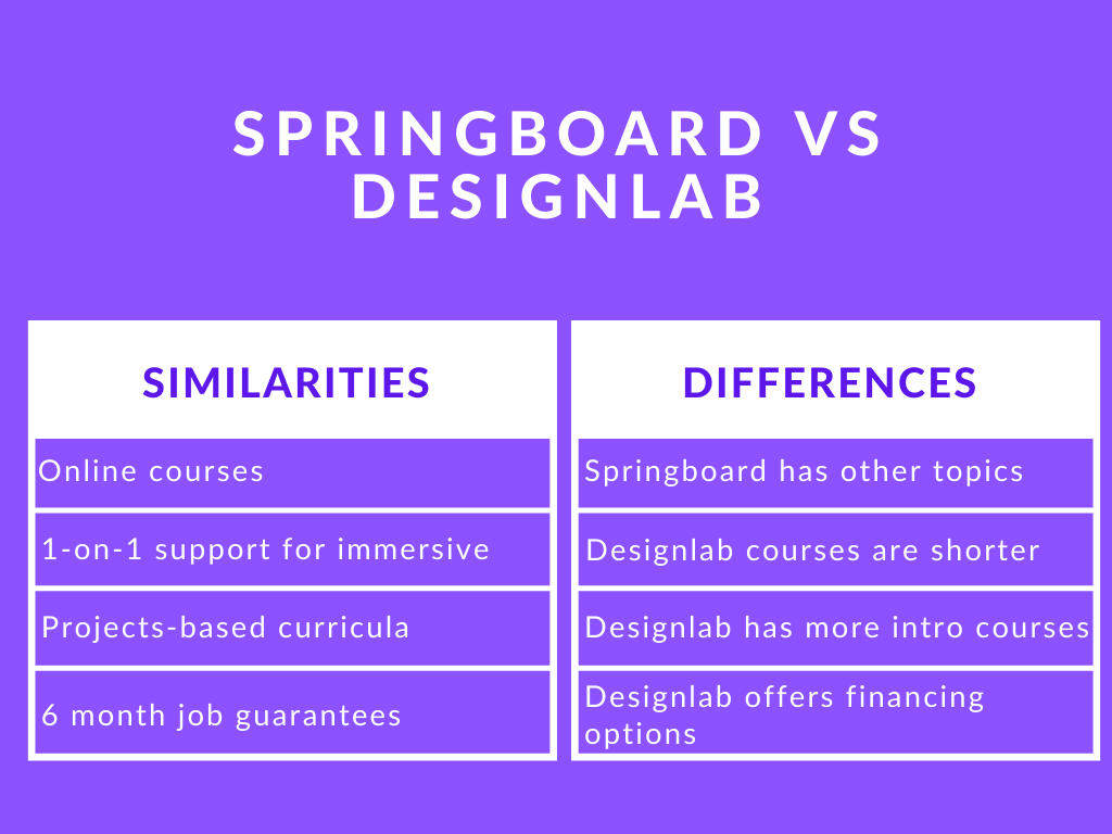 Photo of Springboard vs Designlab