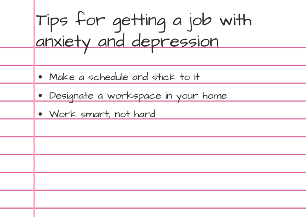 Photo of getting a job with anxiety and depression