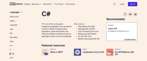 Photo of resources to learn C#