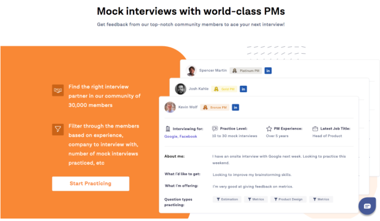 product management exercises mock interview examples