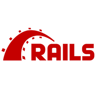 a photo of the ruby on rails logo